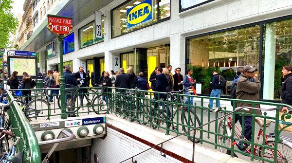 IKEA Paris street